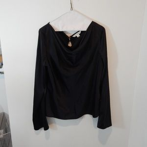 St. John Black Blouse